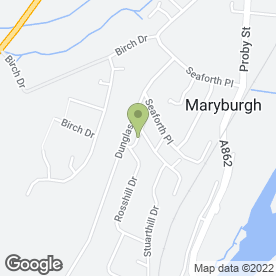 Map of Alan Munro A.D.I in Maryburgh, Dingwall, ross-shire