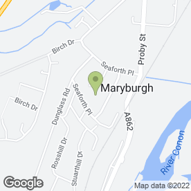 Map of D.M Mechanical Services in Maryburgh, Dingwall, ross-shire