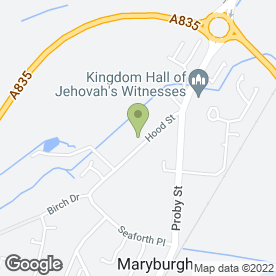 Map of Cottage Bar & Restaurant in Maryburgh, Dingwall, ross-shire