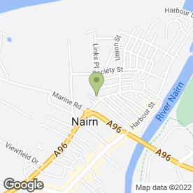 Map of Fairhaven B & B in Nairn, nairnshire