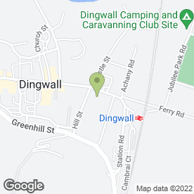 Map of Highland Theological College in Dingwall, ross-shire