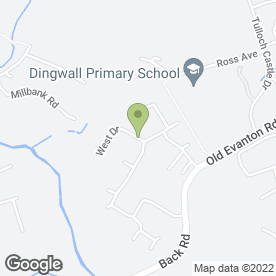 Map of G M Building in Dingwall, ross-shire