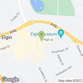 Map of Moray Voluntary Service Organisation in Elgin, morayshire
