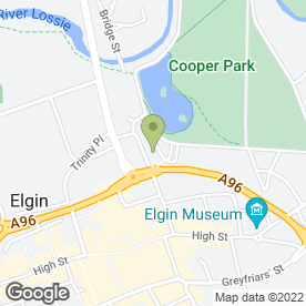 Map of The Tile & Fireplace Centre in Elgin, morayshire
