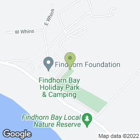 Map of New Findhorn Directions Ltd in Findhorn, Forres, morayshire