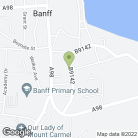 Map of Bank of Scotland in Banff, banffshire