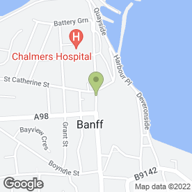 Map of Bellevue Veterinary Centre in Banff, banffshire