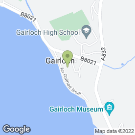 Map of Myrtle Bank Hotel in Gairloch, ross-shire