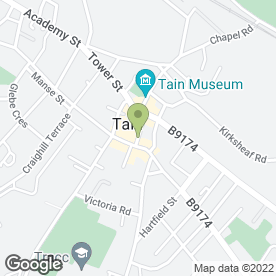 Map of The Star Inn in Tain, ross-shire