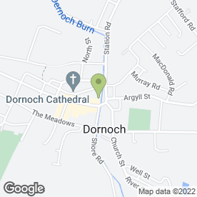 Map of Dornoch Inn in Dornoch, sutherland