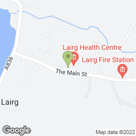 Map of Lairg Medical Practice in Lairg, sutherland