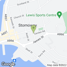 Map of Stornoway Blinds in Stornoway, isle of lewis