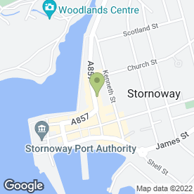 Map of Derek Mackenzie Solicitors & Estate Agents in Stornoway, isle of lewis
