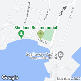 Map of Kiln Bar in Shetland