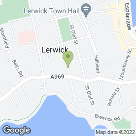 Map of Peter's in Shetland, shetland islands