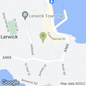 Map of Tait & Peterson in Shetland, shetland islands
