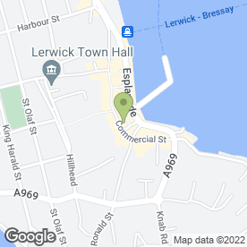 Map of Bank of Scotland in Lerwick, Shetland, shetland islands