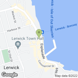 Map of Peerie Shop Cafe in Shetland, shetland islands