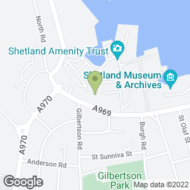 Map of Clocktower Cards in Shetland, shetland islands