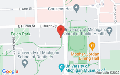 Map of 100 Washtenaw Ave., Ann Arbor, MI 48109-2218