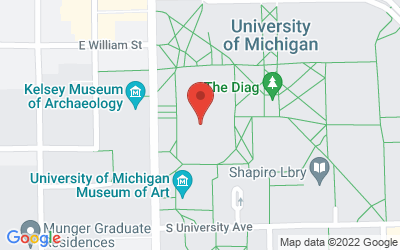 Map of 1014 Tisch Hall, 435 S. State St.