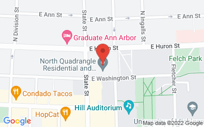 Map of 105 S. State St., Ann Arbor, MI 48109-1285