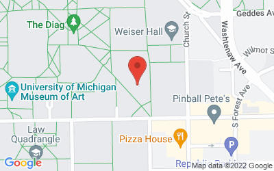 Map of 1085 S. University Ave., Ann Arbor, MI 48109-1107