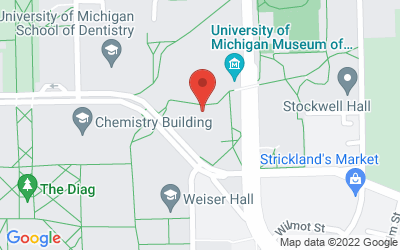 Map of 1109 Geddes, Ann Arbor, MI 48109-1079