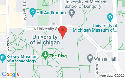 Map of 1200 Chemistry Building, 930 North University Avenue, Ann Arbor MI 48109