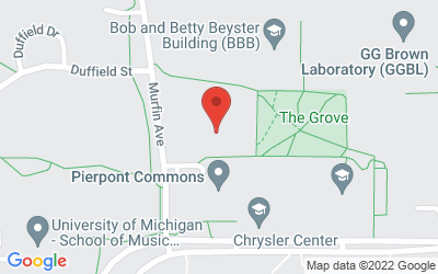 Map of 1226 Murfin, Ann Arbor, MI 48109-1212