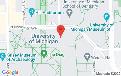 Map of 1300 Chemistry Building, 930 North University Avenue, Ann Arbor MI 48109