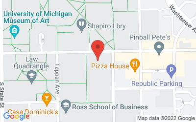 Map of 1636 School of Social Work Building<br>