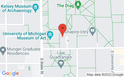 Map of 180 Tappan Hall<br>855 S. University, Ann Arbor
