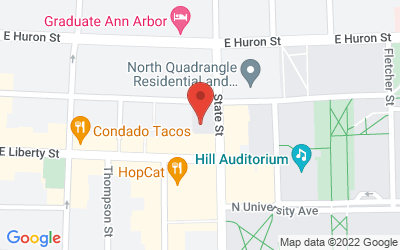 Map of 204 S. State, Ann Arbor, MI 48109-1290