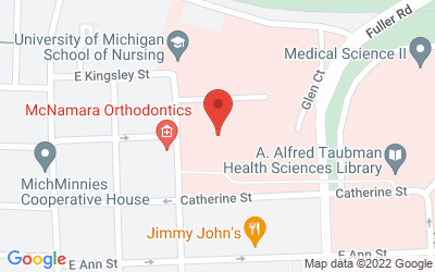 Map of 400 N. Ingalls, Ann Arbor, MI 48109-5482
