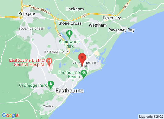 Hendy Mazda Eastbourne's location