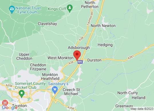 County Taunton's location