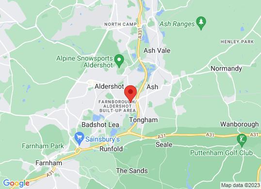 FG Barnes Fiat Aldershot's location