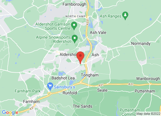 Drive Vauxhall Aldershot's location