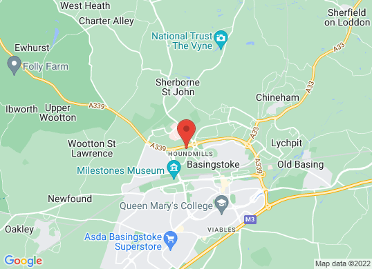 West Way Basingstoke's location