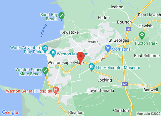 Drive Vauxhall Weston-super-Mare's location