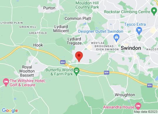 Johnsons Mazda Swindon's location