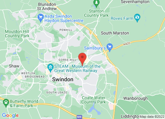 The Car Shop Swindon's location