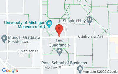 Map of 519 South University, Ann Arbor, MI 48109-1357