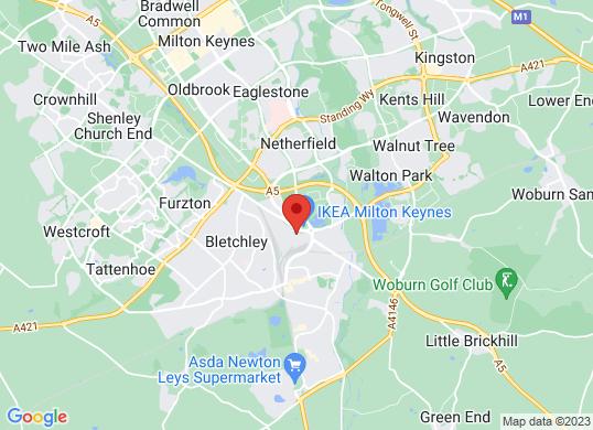 Bletchley Hyundai's location