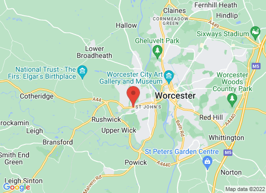 Worcester Audi's location