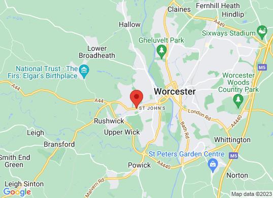 Listers Volkswagen Worcester's location