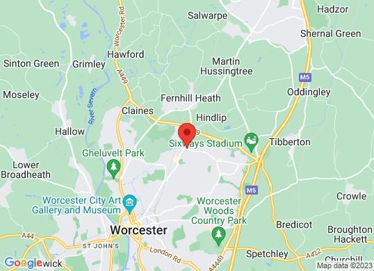 Baylis Vauxhall Worcester's location