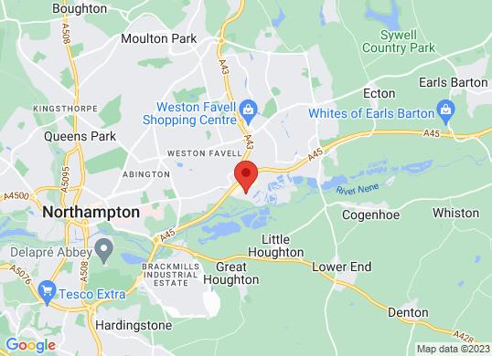 Listers U Northampton's location