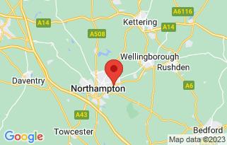 Bristol Street Nissan Northampton's location